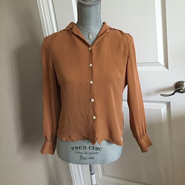 Vintage Orange Blouse