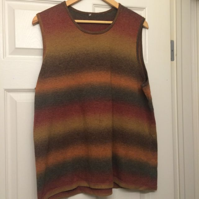 Vintage Wool Hippy Boho Tank Top
