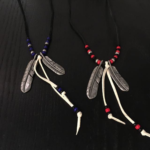 WEGO 羽毛項鍊