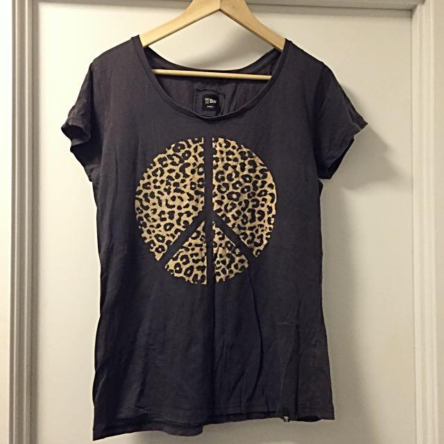Women's Leopard Peace Shirt