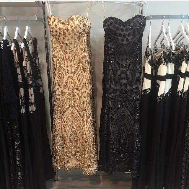 Zizu Gold Mirror Dress