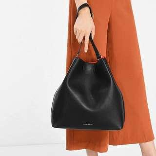 CHARLES & KEITH Slouchy Bag (Black)