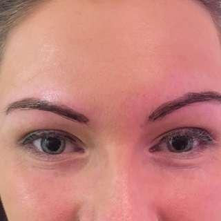 Eyebrow tinting!