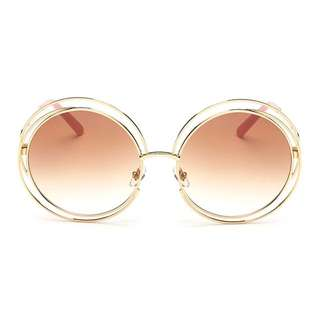 AEVOUGE Round Hollow Sunglasses