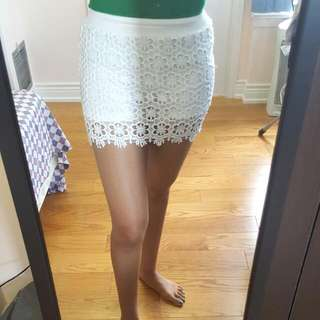 Lace Skort (Shorts Under Lace Skirt)