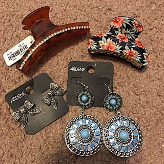 Ardene Earrings & Hair Clips