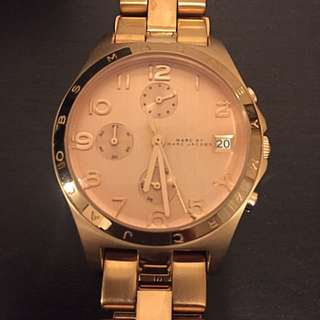 Women's Rose Gold Marc Jacob Watch