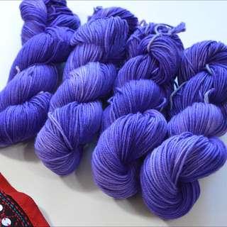 Hand Dyed Yarn | Handdyed Yarn | Superwash | Wool | Merino | Fine | Sport weight | Hand Dyed | Skein - 100gm - 225 yards (205 meters)