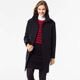 Uni Qlo Navy Wool Coat