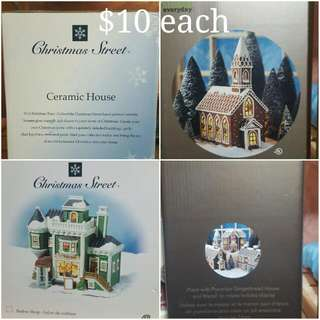 Ceramic Gingerbread house - Christmas decor
