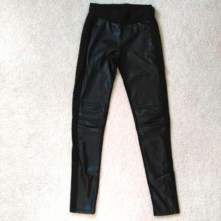 XS Dynamite Black Pleather Leggings