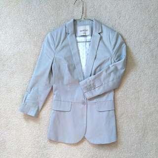 XS Grey Casual Blazer