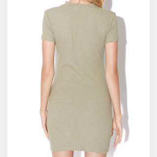 Khaki Pure Basic Dress