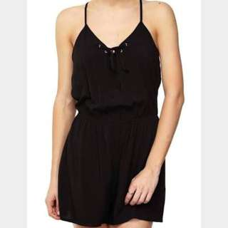 Black Ayla Playsuit