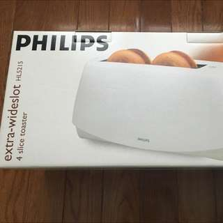 New Philips 4 Slice Toaster