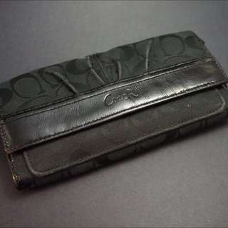 Black Coach Flip Wallet For Women