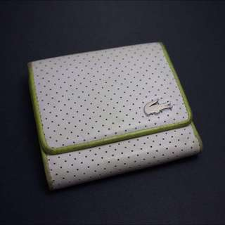 White And Green Lacoste Wallet