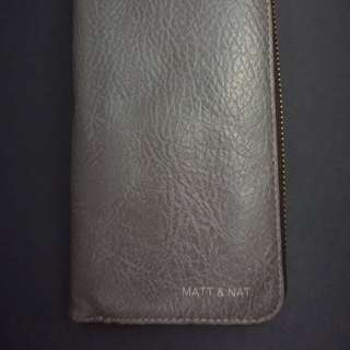 Grey Matt & Nat Crepe Paper Wallet