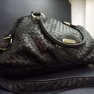Large Black Leather Steve Madden Purse For Women