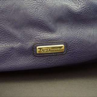 Large Blue Leather Steve Madden Purse