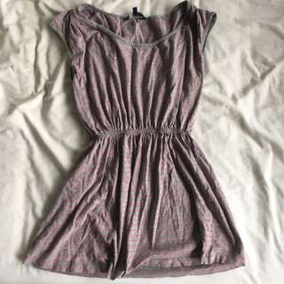 French Connection Grey Pink Long Top