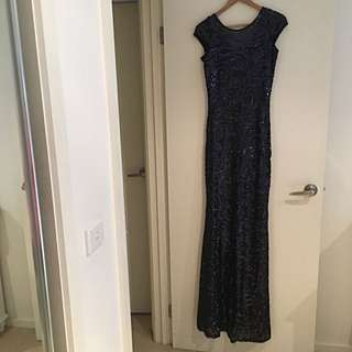 Langhem Sequinned Formal Gown Sz 10