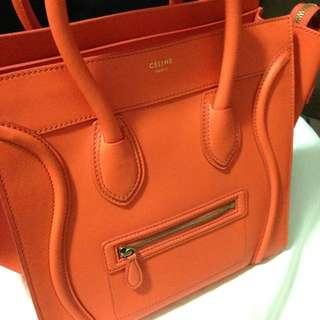 Celine Luggage Tote Orange