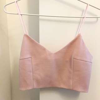 BRAND NEW Pink Crop Top Size 8
