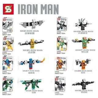Bootleg Lego Compatible IronMan Minifigs