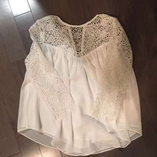White Chiffon Lace Too