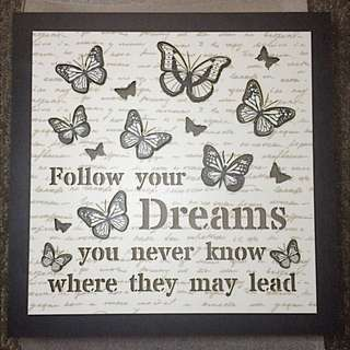 Butterfly Inspirational Wall Plaque