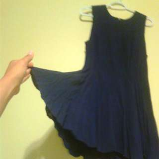 Forever 21 Blue Flayed Out Dress