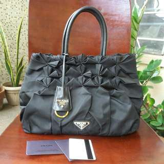 Authentic Preowned Prada Handbag - Black Nylon