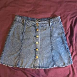 MINK DENIM SKIRT • M/10