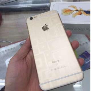 售iPhone 6s Plus 64G 金色 全機包膜 9.9成新 保固中 盒裝配件完整