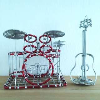Metal Drum And Guitar Deco