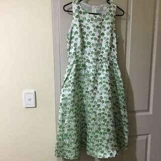 Green Lotus Dress