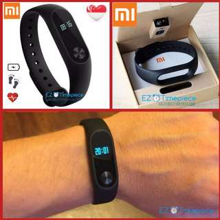 [New batch, SG Seller] Genuine Xiaomi Mi Band 2 Smart Wristband Bracelet OLED Display w Heart Rate Fitness Tracker Water Resistant