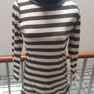 MNG stripe longsleeve shirt