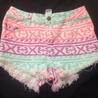 Supre Coloured Shorts - Size XXS