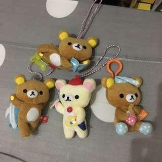 拉拉熊 懶熊 7-11 吊飾玩偶