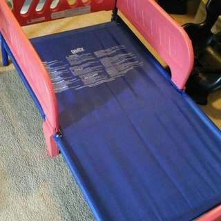 Toddler Bed W/ Mattress & Sheets