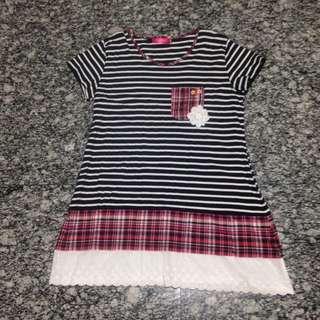 BNWOT Black & White Stripe with Lace Insert Dress - XXXL (Plus Size)