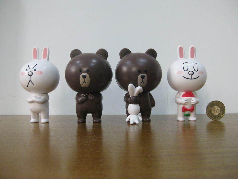 [明的玩具屋]絕版熊大兔兔公仔