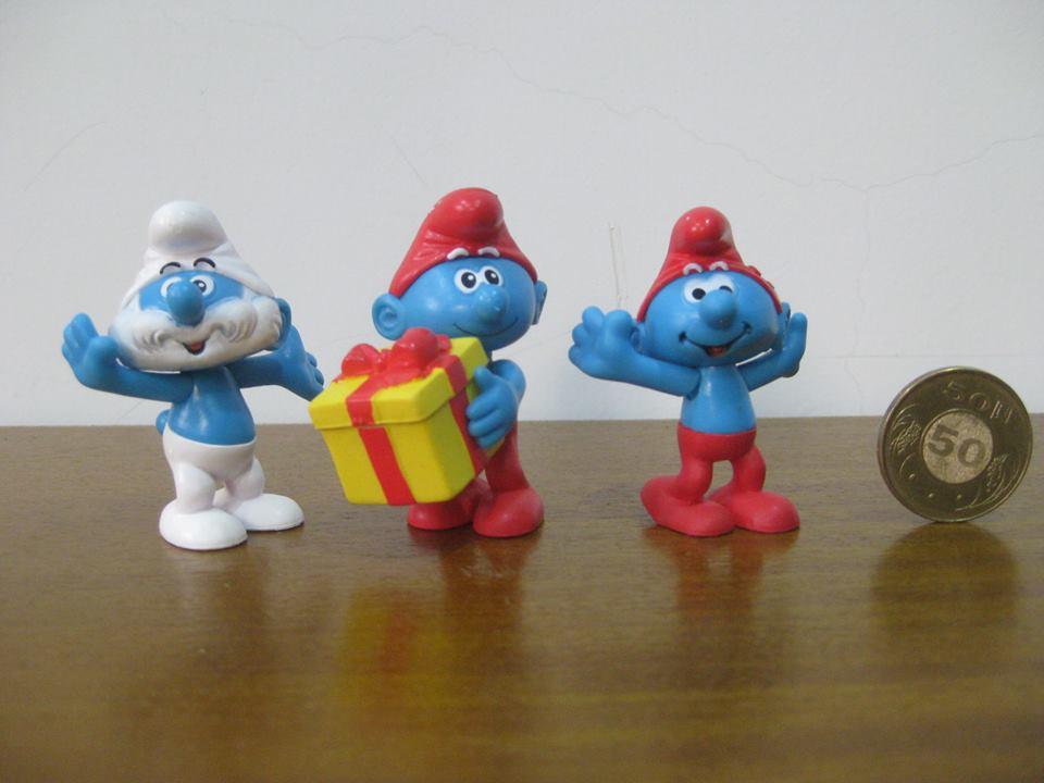 [明的玩具屋]藍色小精靈絕版公仔