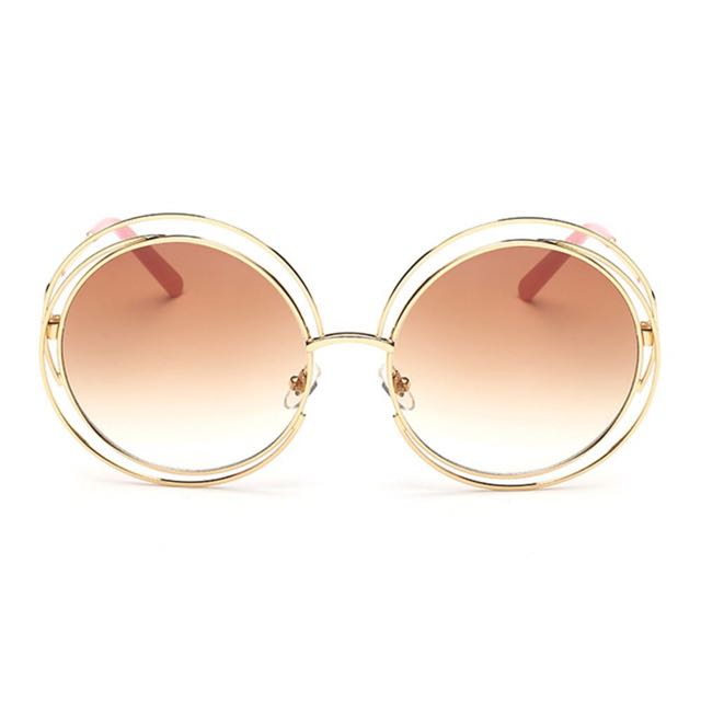 AEVOUGE Round Hollow Sunglasses