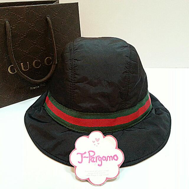 Authentic Gucci Bucket Hat Black Nylon With Web    Only For Sale        NO  TRADE        Fixed Price Non-Neg       定价    0e215d8c608