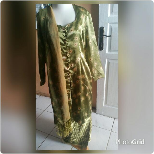 Batik Model Kebaya + Selendang  (FreeOng Jabodetabek)