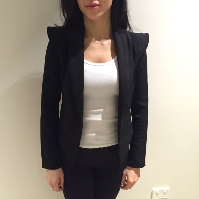 BLACK JACKET BLAZER SIZE 6