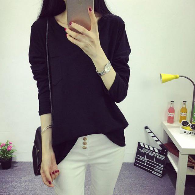 Brand New-Black Long Sleeve